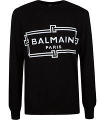 balmain logo embroidered sweater