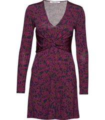 elsi short dress aop 10908 kort klänning rosa samsøe samsøe