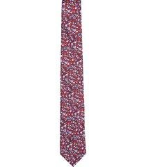 krawat platinum czerwony classic 226