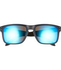 oakley holbrook 57mm sunglasses in black blue at nordstrom