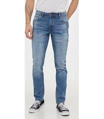 solid joy 2 blue265 str slim jeans denim blå