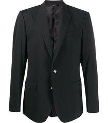 dolce & gabbana tailored button-front blazer - black