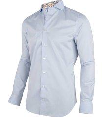 cavallaro cavallaro overhemd shirt ferro 1001059-61000 licht blauw