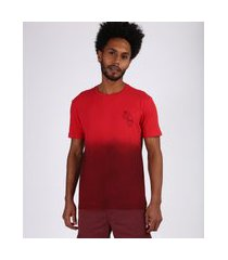 "camiseta masculina degradê good surf days"" manga curta gola careca vinho"""