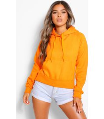 petite basic hoodie, oranje