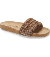 women's coconuts by matisse stunner quilted slide sandal, size 6 m - brown