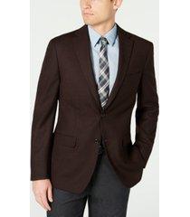 tommy hilfiger men's modern-fit thflex stretch textured sport coat