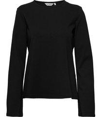 havista shirt t-shirts & tops long-sleeved zwart marimekko