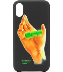 off-white hand print iphone xr case - black