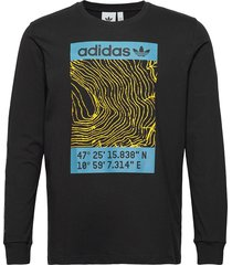 adv ls tee t-shirts long-sleeved svart adidas originals