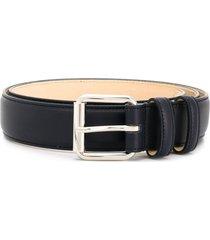 a.p.c. paris leather belt - blue
