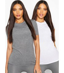 fit 2 pack gym t-shirts, charcoal