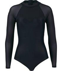 costume intero a maniche lunghe (nero) - bodyflirt
