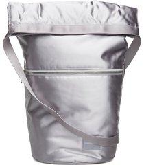 satin roll top hobo bags bucket bag zilver calvin klein