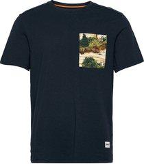 ss ft print pock tee t-shirts short-sleeved blå timberland