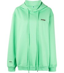 ader error oversized fit hoodie - green