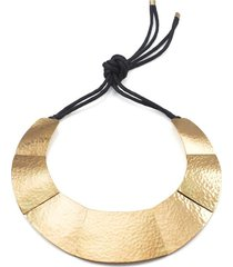 geometricss necklace, women's, cotton, josie natori