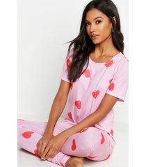 hartjes pyjama set, roze