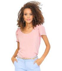 blusa forrada manga corta bolero en línea de sisa rosa unipunto 32313