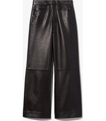 proenza schouler white label cropped leather pants 00200 black 8