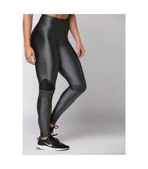 calça legging poliamida graphite detail texture feminina água e luz