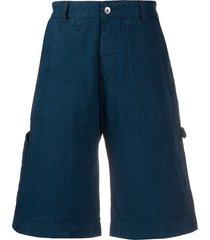 ymc latino wide-leg bermuda shorts - blue