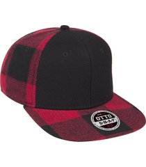 "otto melton wool blend flannel square flat visor ""otto snap"" six panel pro style"