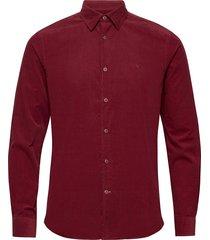 cedrik button under shirt skjorta casual röd morris
