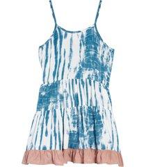 girl's vintage havana kids' tie dye tiered dress