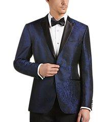 awearness kenneth cole blue jacquard slim fit dinner jacket