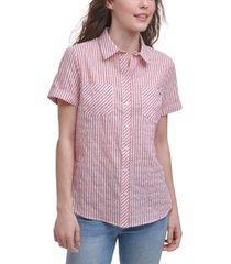 tommy hilfiger alexander striped camp shirt