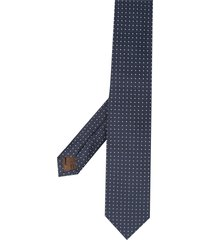 church's square embroidered tie - blue