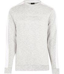 river island mens maison riviera grey space dye sweatshirt