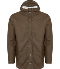 rains brown hooded jacket 1201-26