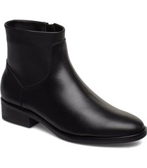 pure rosa shoes boots ankle boots ankle boots flat heel svart clarks
