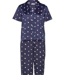 woven set ss print, pyjama blauw tommy hilfiger