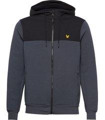 full-zip colour breaker tech fleece hoodie grå lyle & scott sport