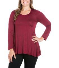 women's plus size poised swing tunic top