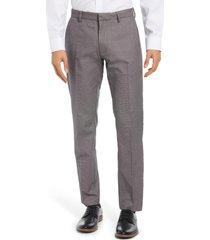 men's nordstrom men's shop non-iron athletic fit textured pants, size 38 x 32 - black
