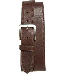 men's shinola double stitch leather belt