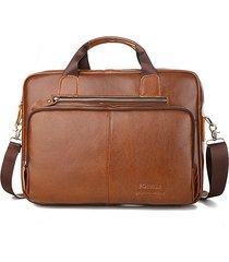vera pelle business handbag vintage leisure solid crossbody borsa per uomo