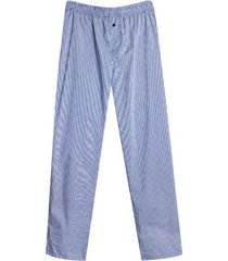 pantalon descanso mini cuadros color azul, talla l