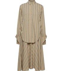 cay dress jurk knielengte beige hope