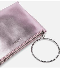ted baker women's ingaah textured ring bracelet clutch - pink