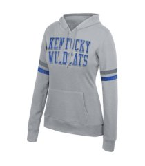 top of the world kentucky wildcats women's essential sleeve stripe hoodie