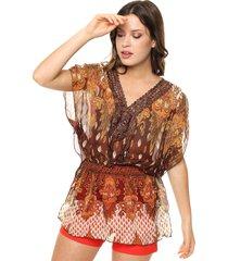 blusa marrón donadonna