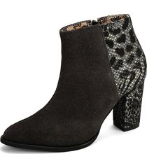 botin gris heels.d