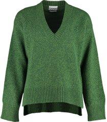 ganni long sleeve sweater