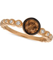 le vian chocolatier diamond bezel ring (3/4 ct. t.w.) in 14k rose gold