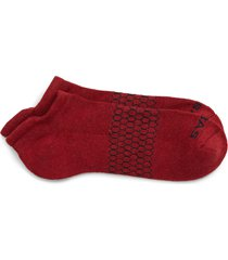 men's bombas heather ankle socks, size large - red